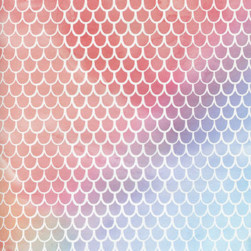 Watercolor Scales Printed Photography Background / 425