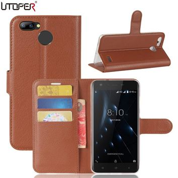 UTOPER Shell For Blackview A7 Pro Case Flip PU Leather Wallet Phone Case For Blackview A7 Pro Cover For Blackview A7 Pro Funda
