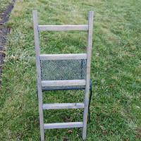 Reclaimed Wooden Ladder With Classic Grey Stain