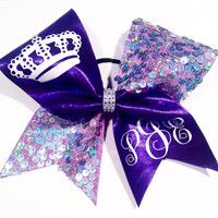 Purple Royalty Cheer Bow