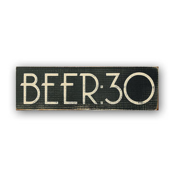 BEER:30 - Distressed Wood Sign, Home Decor, Wall Art, Painted Wood Sign, Rustic, Beer Sign, Bar Sign, Man Cave