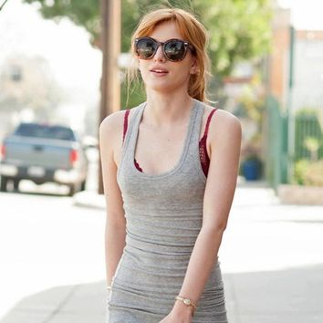 Celebrity Bella Thorne Womens Round Fashion Sunglasses 8585