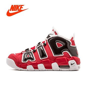 Original New Arrival Official Nike Air More Uptempo Hoop Pack Breathable Women's Basketball Shoes Sports Sneakers