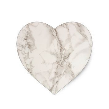 Marble Stone Heart Sticker