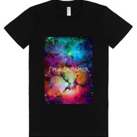 I'm a dreamer galaxy design-Female Black T-Shirt