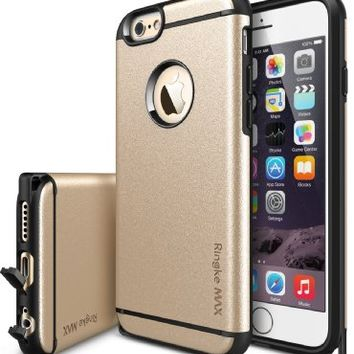iPhone 6S / 6 Case - Ringke MAX [Free HD Film / Heavy Duty Wear & Tear Resistant][ROYAL GOLD] Dual Layer Strength Resistant Stylish Armor Max Protective Hard Case for Apple iPhone 6S (2015) / 6 (2014)