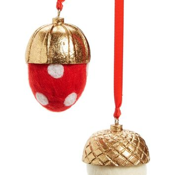 Nordstrom at Home Set of 2 Acorn Ornaments | Nordstrom