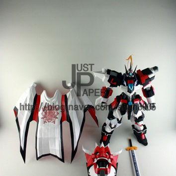 paper craft  [Full-Body Armored  Heavenly King Chiwoo],Instant Pdf download, 3D Pattern, Paper Gundam,Paper Crafts,Paper Robot,3Dpaper,3D