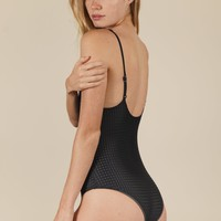 ACACIA - Hina Mesh One Piece | Ebony