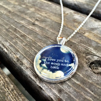 I Love You To The Moon And Back Necklace (Free Shipping To USA)