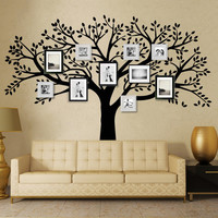 MCTUM Brand Family Tree Wall Decals Vinyl Wall Decal Photo Frame Tree Stickers Living Room Home Decor