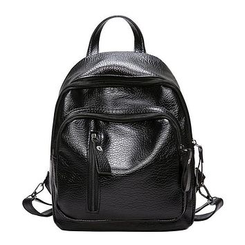 Girls bookbag Women Fashion Leather Backpacks Girl Multifunction Shoulder Bookbags School Bag Cute Fashion Backpack Small Bag For Girls AT_52_3