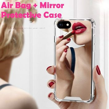 New Arrival Air-Conor-Protective Luxury Mirror Plating Bing Phone Case For iphone X For iphone 6 6s plus 7 8 plus Cover iPhone C