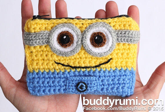 Finished item: Minion crochet wallet with from BuddyRumi