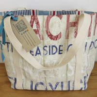 Women's Beach Bag Handmade Shoulder Bag Tote Bag Knitting Bag Yarn Bag