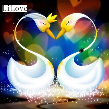 5D Diamond Painting Abstract Swans Kit