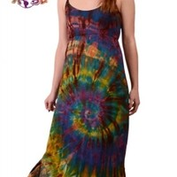 Starlight Tye Dye Spandex Blend Maxi Dress: Gypsy Rose