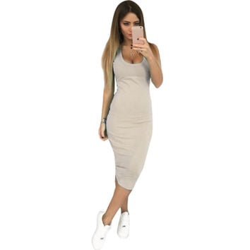 SexyWomen's  Dress Clubwear Bandage Bodycon Sleeveless Vest Party Clothes Dress