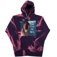 Virus Tie Dye Hoodie Acid Wash - Purple