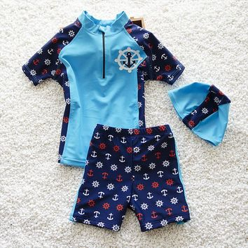 Kids Swimsuit Anchor Set