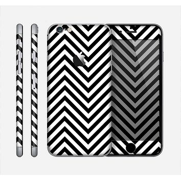 The Black & White Sharp Chevron Pattern Skin for the Apple iPhone 6