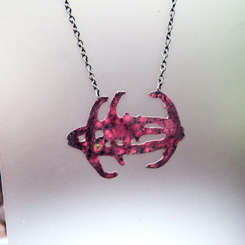 Star Trek Deep Space 9 Necklace, DS9 Jewelry Galaxy Patina Finish
