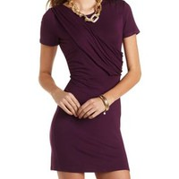 Sash Front T-Shirt Dress by Charlotte Russe