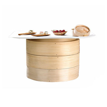 Case - Giant Bamboo Steamer Base DIM SUM