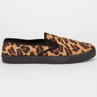Full Tilt Slip On Womens Shoes Leopard  In Sizes