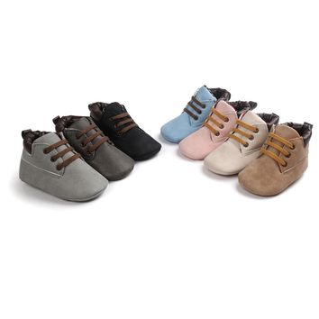 Baby Hight Cut Toddler Soft Sole Leather Shoes Infant Boy Girl Toddler Shoes First Walkers 0-18 Months Newborn Baby Boots