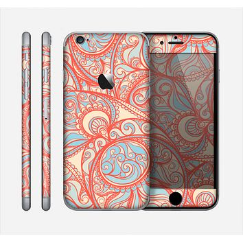 The Coral Abstract Pattern V34 Skin for the Apple iPhone 6