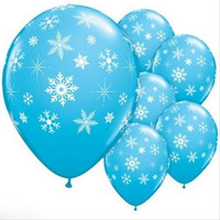 10PCS 12inch Christmas Latex Balloon Birthday  Decorations Frozen Snowflake Party Supplies