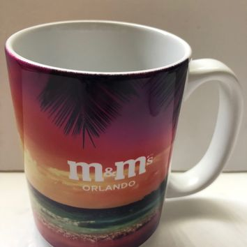 M&M's World Orlando Sunset Ceramic Coffee Mug New