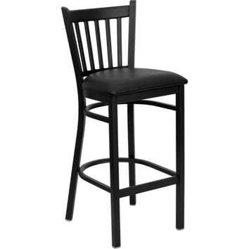 Flash Furniture Metal Restaurant Black Bar Stool