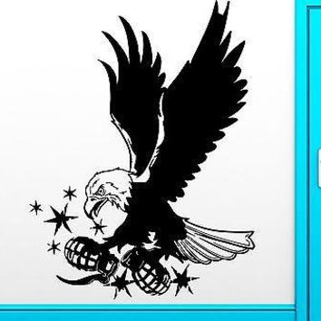 Wall Sticker Vinyl Decal Air Force USA Eagle With Grenade War Decor Unique Gift (z2503)
