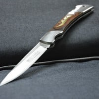 "Folding Knife ""Columbia"", Pocket Knife, Camping Hunting Fishing Knife for Traveling, Elegant Blade, Gift For Dad"