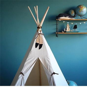 Nordic Hanging Feather Decor. Wooden Feathers for Teepees and Tents. Feather Decor