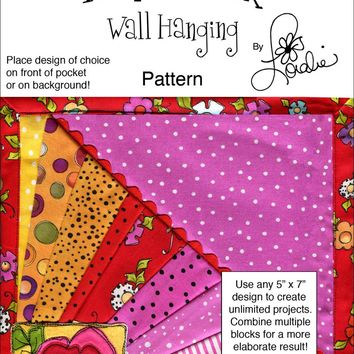 Square Crazy Flourish Pocket Pattern