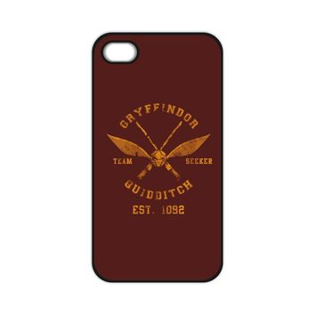 Harry Potter Gryffindor Quidditch Print Case for iPhone 4S 5S 5C 6 Plus  Samsung A3 A5 A7 E5 E7 S3 S4 S5 Mini S6 Edge Note 2 3 4