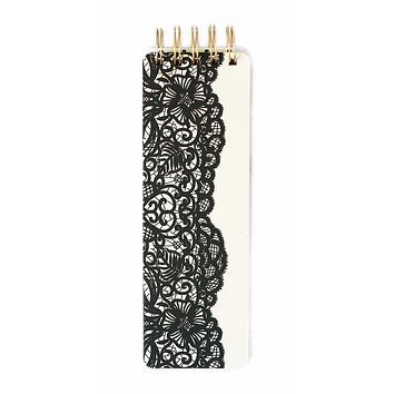 Black Lace Reporter-Style Spiral Notebook