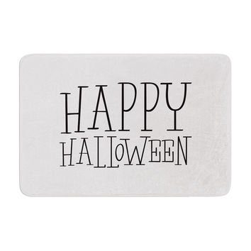 "KESS Original ""Happy Halloween - White"" Memory Foam Bath Mat"