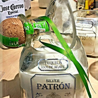 Patron Tequila Bottle Natural Soy Candle WITH TOP!