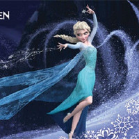 DISNEYS FROZEN ANIMATED MOVIE POSTER PRINT PICTURE ELSA THE SNOW QUEEN