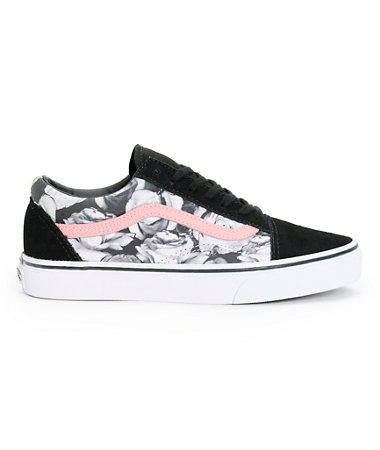 39c4a6cae59f Vans Girls Old Skool Digi Rose & Black from Zumiez | The