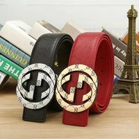 GUCCI 2018 latest trend trendy smooth buckle belt F