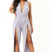 Wraparound Split-Leg Jumpsuit