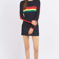 Urban Outfitters Rainbow Striped Ribbed Jumper - Urban Outfitters
