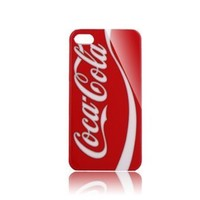Coca Cola Style Hard Case Cover For iPhone 4/4S - Red