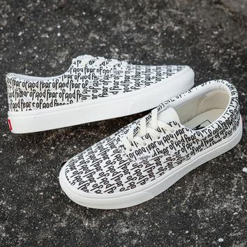 Trendsetter Fear of God x Vans Old Skool Canvas Flats Sneakers Sport Shoes