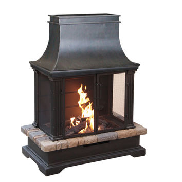 Sevilla Wood Burning Outdoor Fireplace | Overstock.com Shopping - The Best Deals on Fireplaces & Chimineas